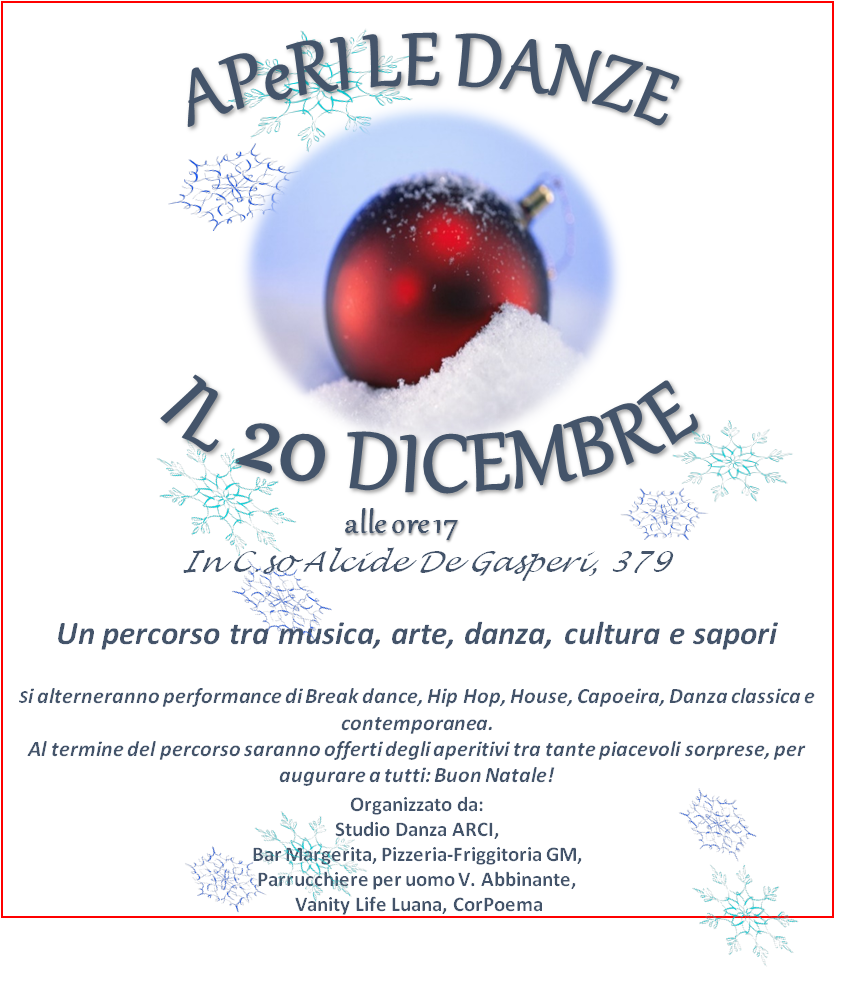 20 Dicembre-APERI LE DANZE