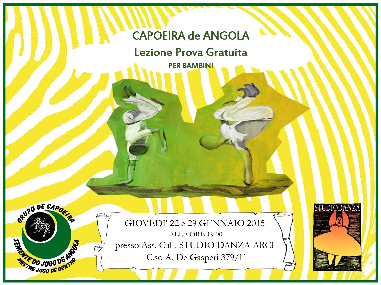 Lezione prova per bambini Capoeira de Angola