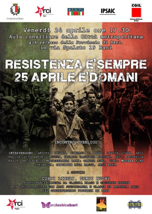Corpi liberi, tempi nuovi – Resistenza è sempre, 25 Aprile è domani