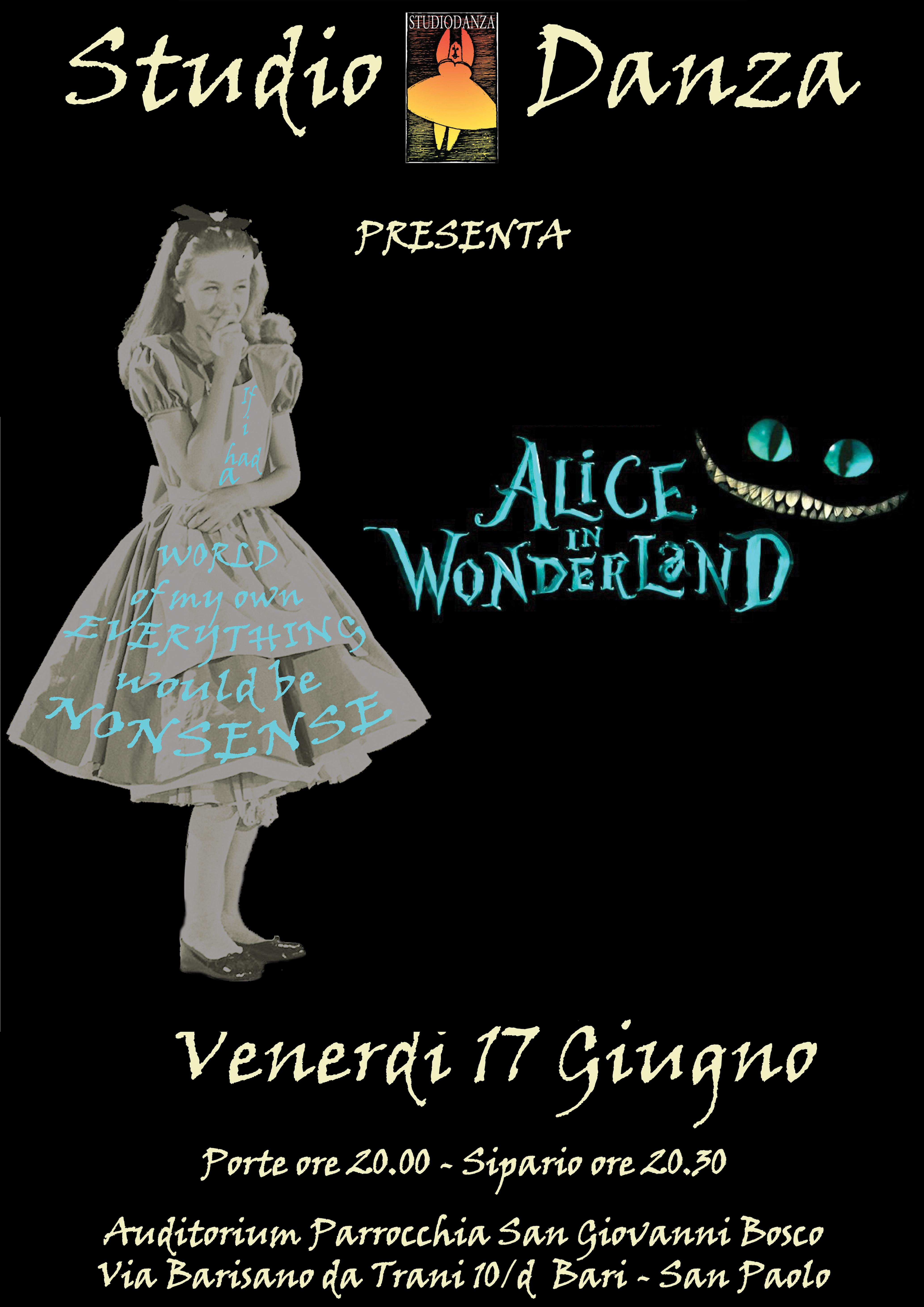 "StudioDanza presenta ""Alice in wonderland"""